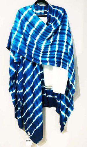 Sudarshan/Deivi Cashmere/Wool Bright Blue Ruana