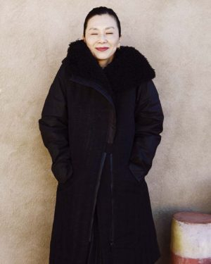 Artpoint Black Textured Quilted Coat with Faux Fur Hood