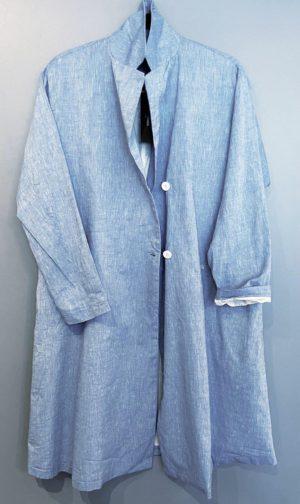 Yoshi Kondo Summer Blue Cotton Coat