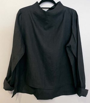 Marja Rak Thelma Linen Top Black